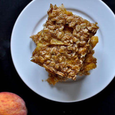 Brown Butter Peach Crumble Bars