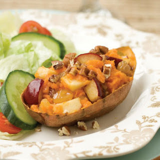 Apple-Pecan-Stuffed Sweet Potatoes