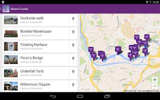 Screenshot of Bristol Unique Guide