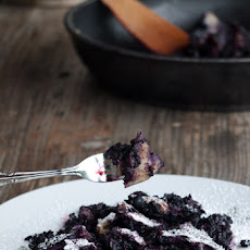 Blueberry Kaiserschmarrn {shredded pancake dessert}