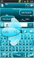 Screenshot of Go Keyboard Fairy Blue