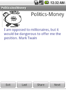 Screenshot of Politics and Money