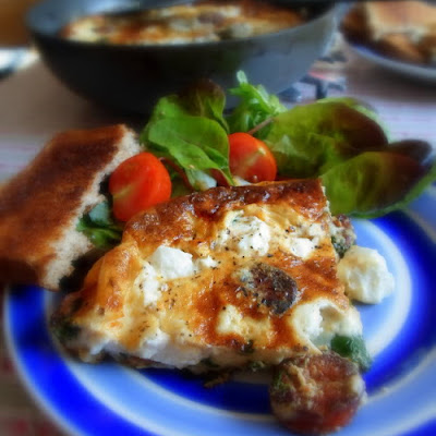 Spinach, Chorizo and Ricotta Frittata