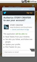 Screenshot of STORY CREATOR