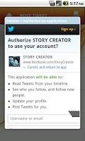 Screenshot of STORY CREATOR
