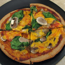 Easy Summer Pizza With Mushrooms and Spinach