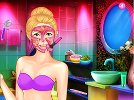 Screenshot of Pink Heart Lady Makeup