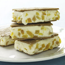 Apricot-Almond Ice Cream Sandwiches