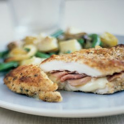 Chicken Breasts Stuffed with Prosciutto and Jarlsberg Cheese