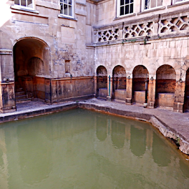 Roman Baths by Deborah Russenberger - Buildings & Architecture Public & Historical ( water, reflection )