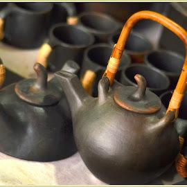 Tea pots by Prasanta Das - Artistic Objects Cups, Plates & Utensils ( earthen, tea pots )