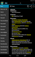 Screenshot of German Dictionary Offline