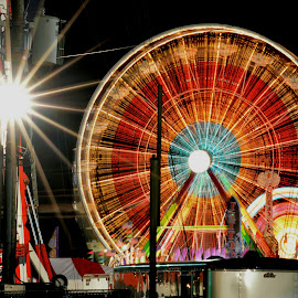 State Fair Oregon by Krista Fisher - News & Events Entertainment ( lights, oregon, rides, night photography, carnival, long exposure, state fair )