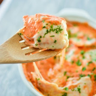 Baked Ravioli with Vodka Sauce