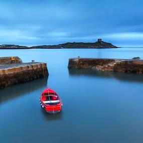 Dalkey,co.Dublin,Ireland by Jozef Svintek - Landscapes Waterscapes ( port, sea, boat, light, wall, island, , water, device, transportation )