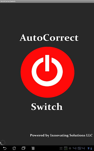 AutoCorrect Switch for Tablets