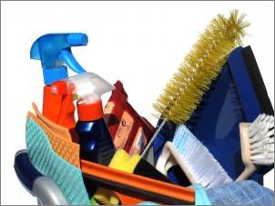 Geschenkkorb Reinigung Wischen Putzen