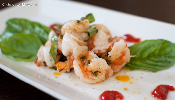Grilled Shrimp Packets with Basil, Garlic and Red Curry Compound ...