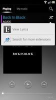 Screenshot of Lyrics Music Extension