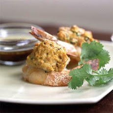Stuffed Shrimp with Lemon-Pomegranate Glaze