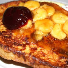 Bananas Foster Raspberry French Toast