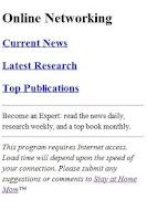 Screenshot of Online Networking