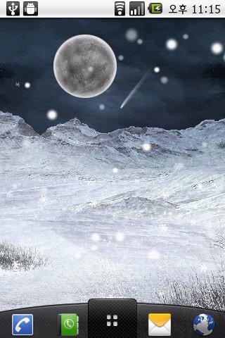 雪が降る冬の夜