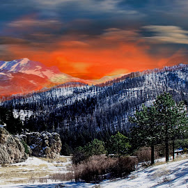 Jemez Fire in New Mexico by Victor Pizzola - Digital Art Places