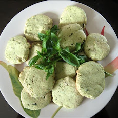 Lemon Basil Butter Cookies