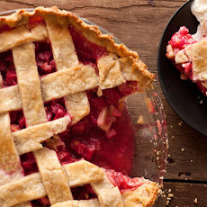 Latticed Rhubarb Pie