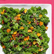 Kale Salad with Chutney Dressing