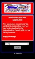 Screenshot of Citizenship - US English Test