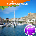 Alicante Street Map icon