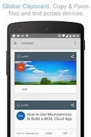 Screenshot of Teradesk + Global Clipboard