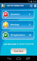 Screenshot of Anti Spy Mobile PRO