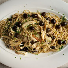 Chicken, Black Olives and Lemon with Spaghetti