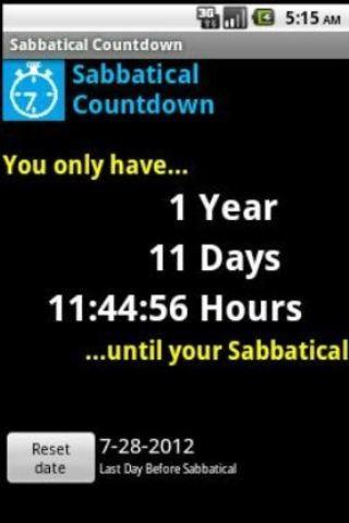 Sabbatical Countdown