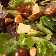 Grape and Almond Mixed Greens Salad Recipe