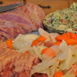 Food Art by Jim Greene - Food & Drink Meats & Cheeses ( cabbage, corned beef, potatoes, carrots, st patrick's day,  )