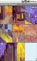 Screenshot of Van Gogh slidepuzzle