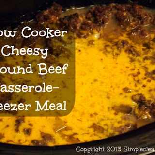 Slow Cooker Cheesy Ground Beef and Potato Casserole