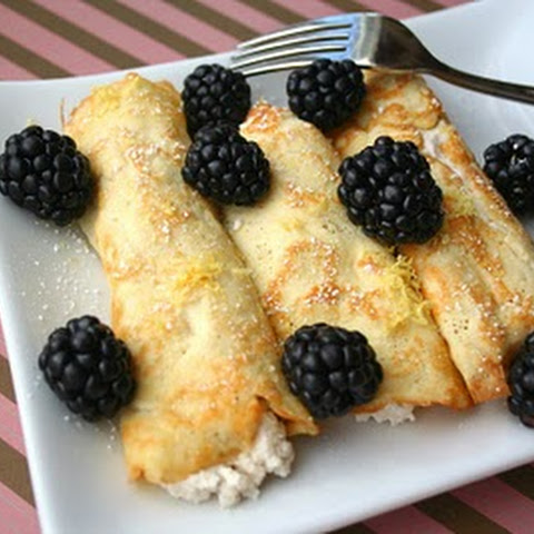 Coconut Flour Crepes With Lemon Ricotta