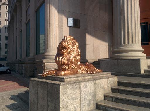 中信银行黄金狮像/Gold Lion/ライオン像