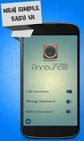 Screenshot of Caller Name Announcer