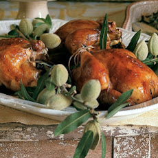 Roast Poussin with Prunes and Thyme