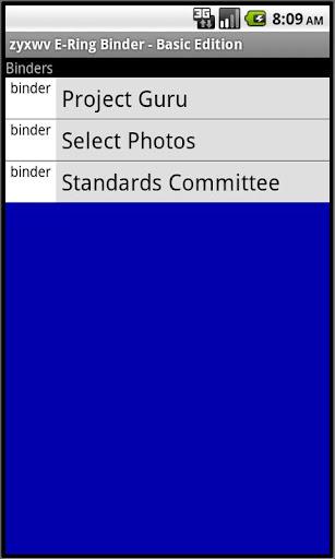 zyxwv E-Ring Binder - Basic Ed