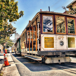 San Francisco Cable Cars by Dustin Olsen - Transportation Trains