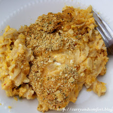Sweet Potato Mac and Three Cheese
