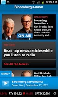 Screenshot of Bloomberg Radio+