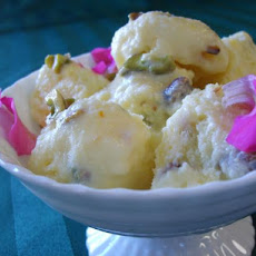 Bastani (Persian Rose Water, Saffron and Pistachio Ice Cream)